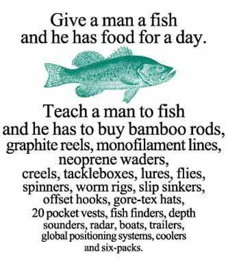 Give a man a fish and he has food for a day ned martin s for Where to buy fish