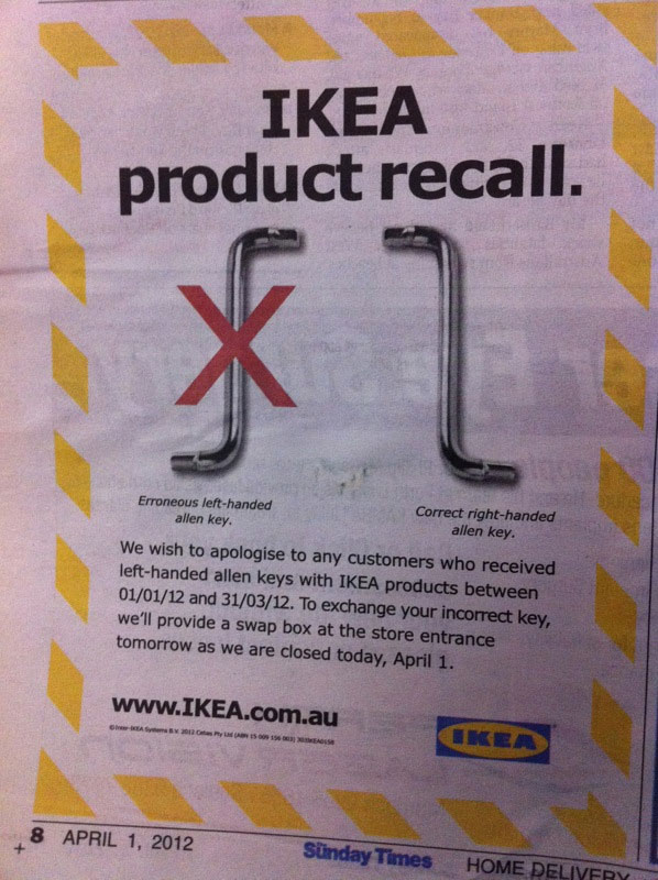 ikea product recall ned martin s amused