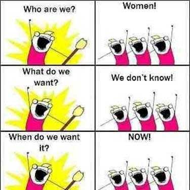 We women what do we want we don t know when do we want it now